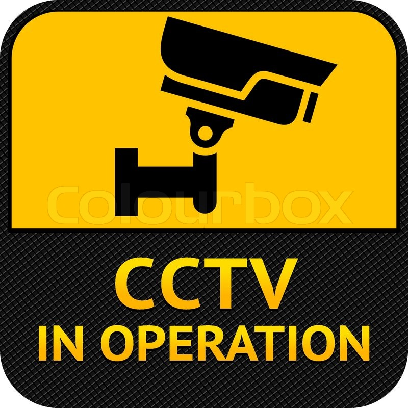 Cctv Symbol Label Security Camera Stock Vector Colourbox