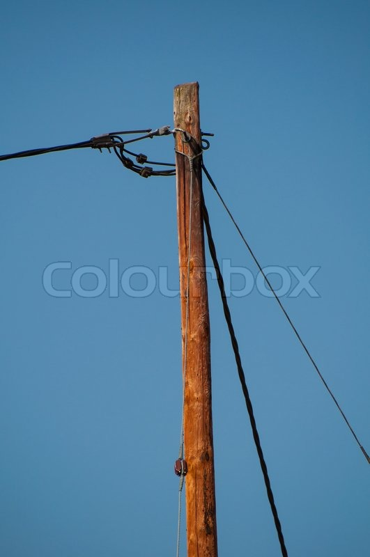 Telephone pole and wires | Stock Photo | Colourbox