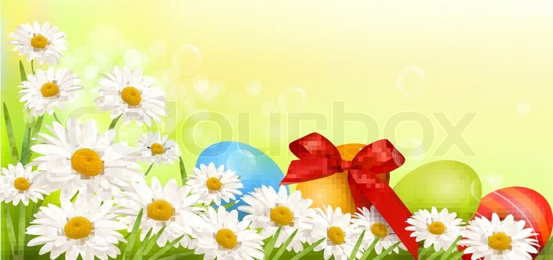 Easter Background With Easter Eggs And ...