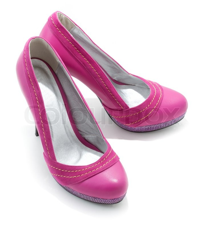 pink high heel shoes stock photo colourbox