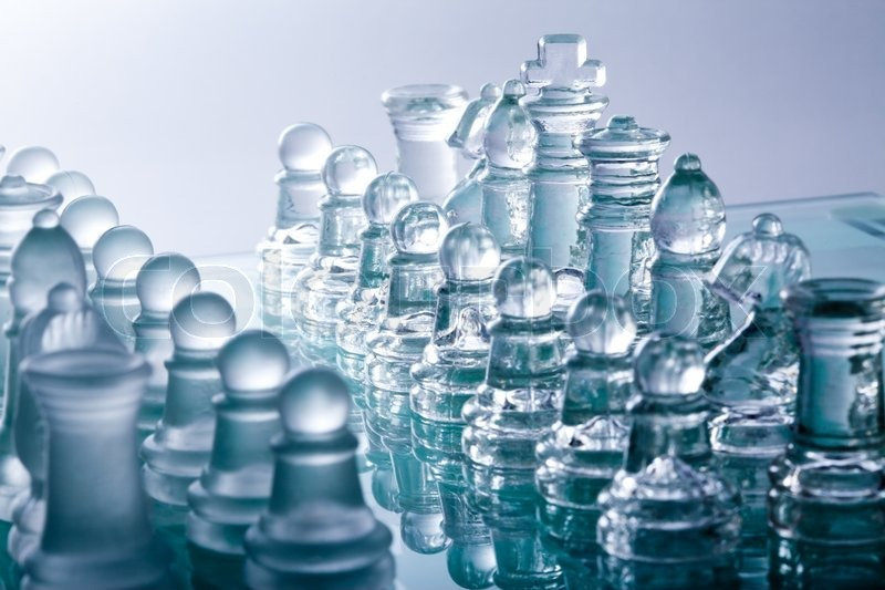 transparent glass chess pieces stock photo colourbox