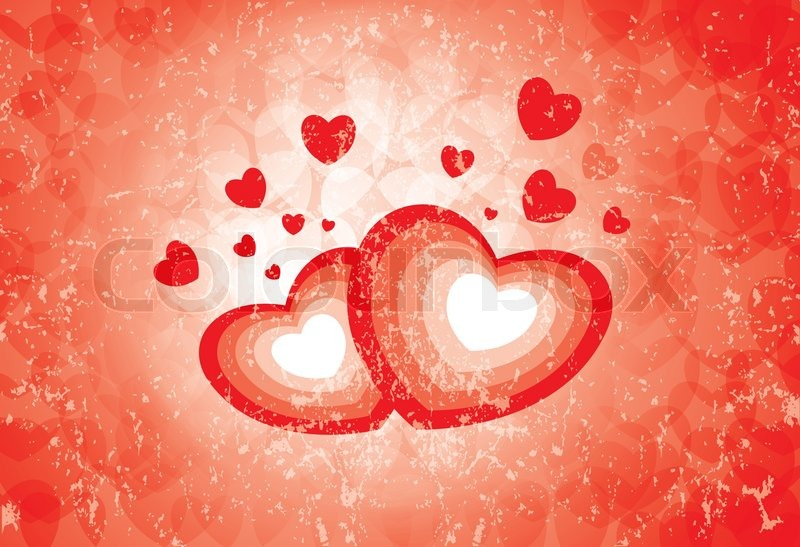 Heart Symbols Showing The Emotion Of Love And Romance Stock Vector