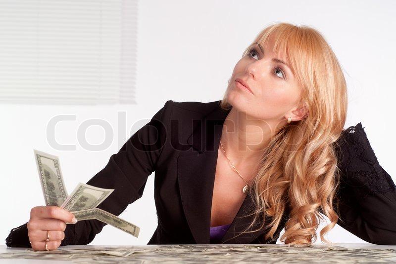 kontanter køn blond