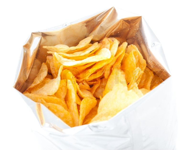 Potato Chips Images Potato Chips in Bag Isolated
