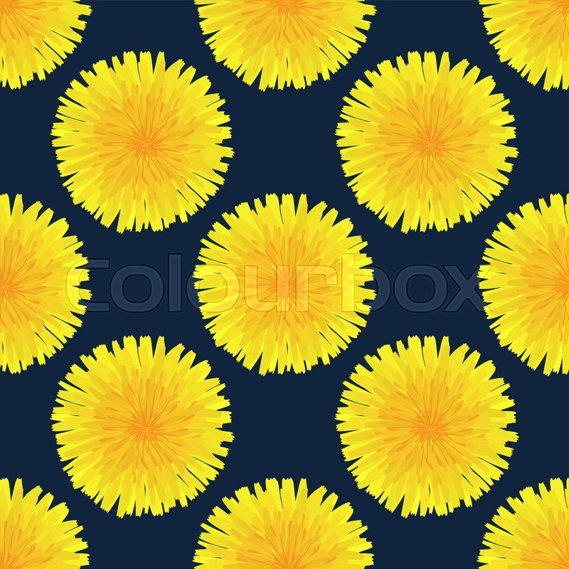 Floral Seamless Pattern Hand Drawn Stock Vector Colourbox