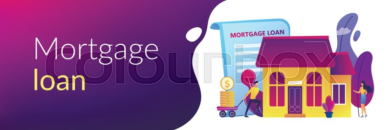 Borrower Making Mortgage Payment For Stock Vector Colourbox
