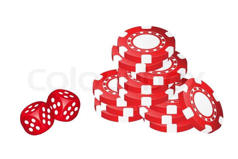poker chips with dice stock vector colourbox rh colourbox com poker chips vector free download poker chips vector clipart