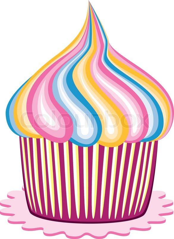 Vector Colorful Cupcake Stock Vector Colourbox