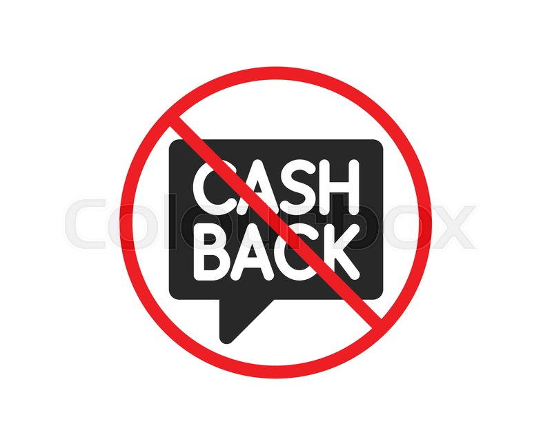 no or stop cashback service icon stock vector colourbox no or stop cashback service icon