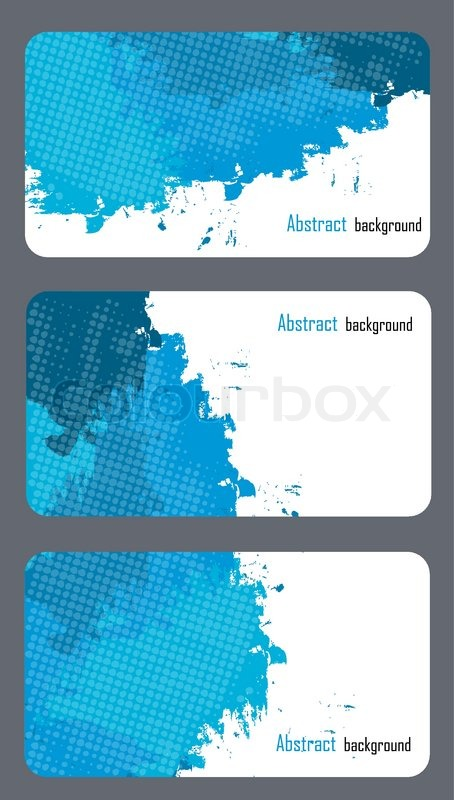 business card templates with abstract background stock