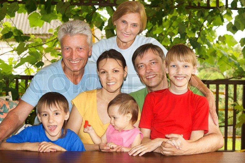 stor familie