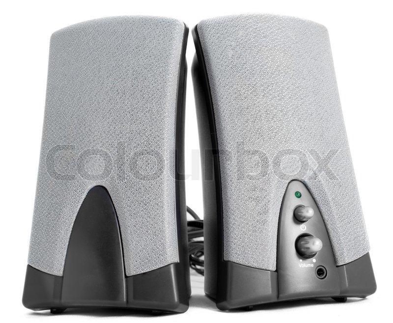 Kleine Computer Lautsprecher Stockfoto Colourbox