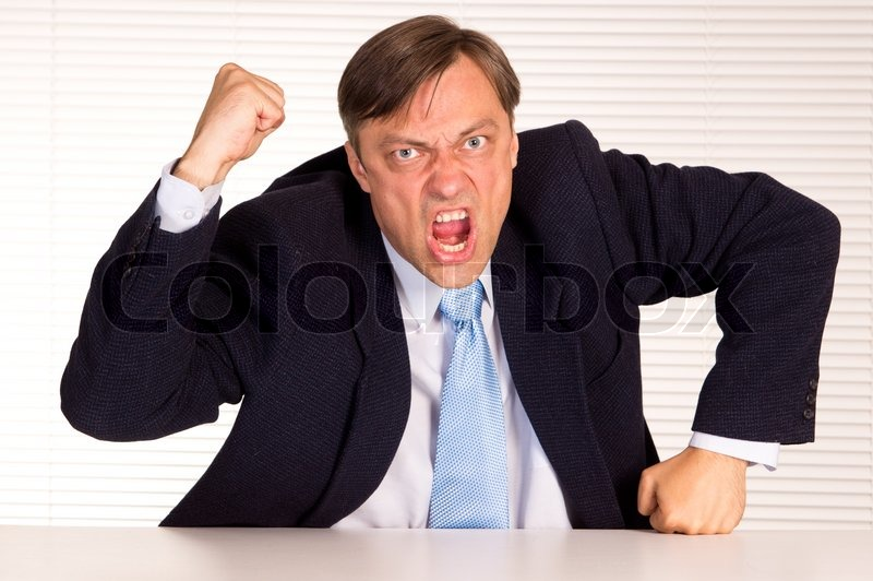 Image result for angry executive