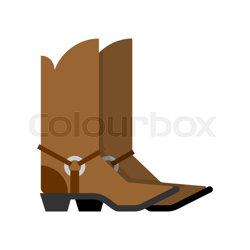 598ed004cef Cowboy Boots isolated. western ... | Stock vector | Colourbox