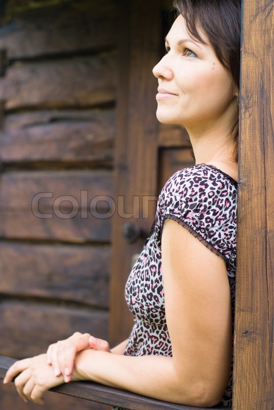 Nice woman outdoors, stock photo