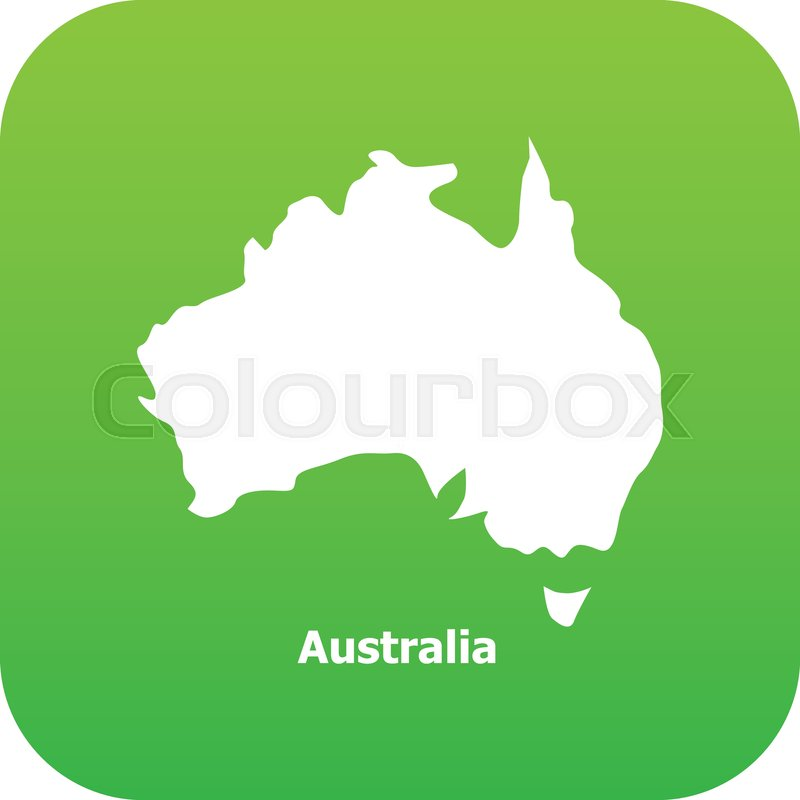 Australia Map Simple.Australia Map Icon Simple Stock Vector Colourbox