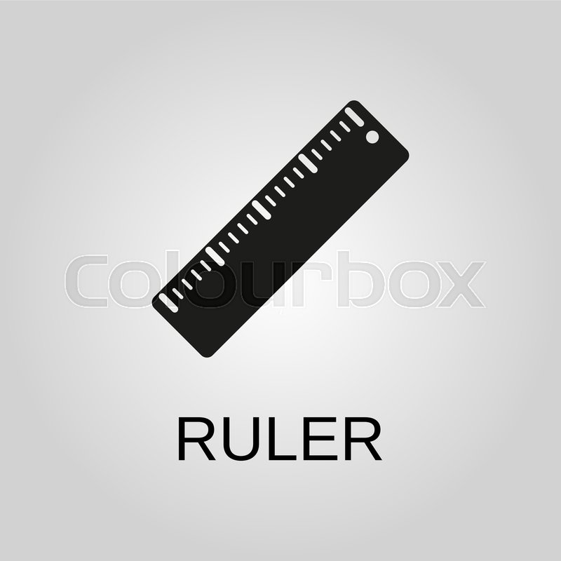 ruler icon ruler symbol flat design stock vector colourbox ruler icon ruler symbol flat design