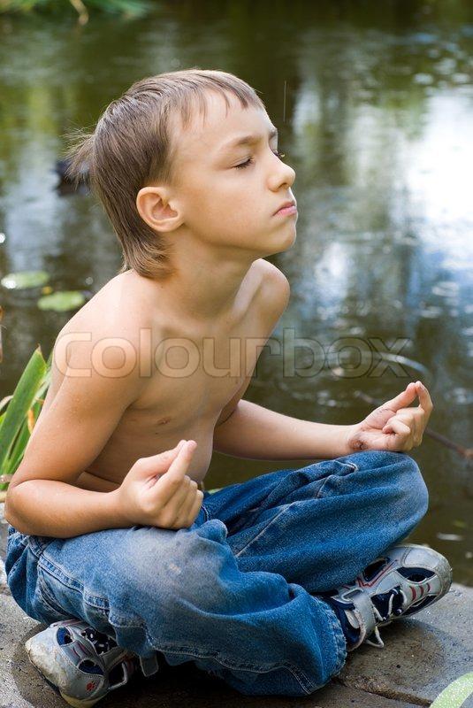 Young Littleboy Meditating