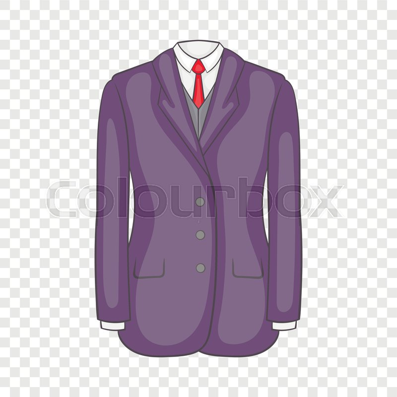 Men suit icon in cartoon style