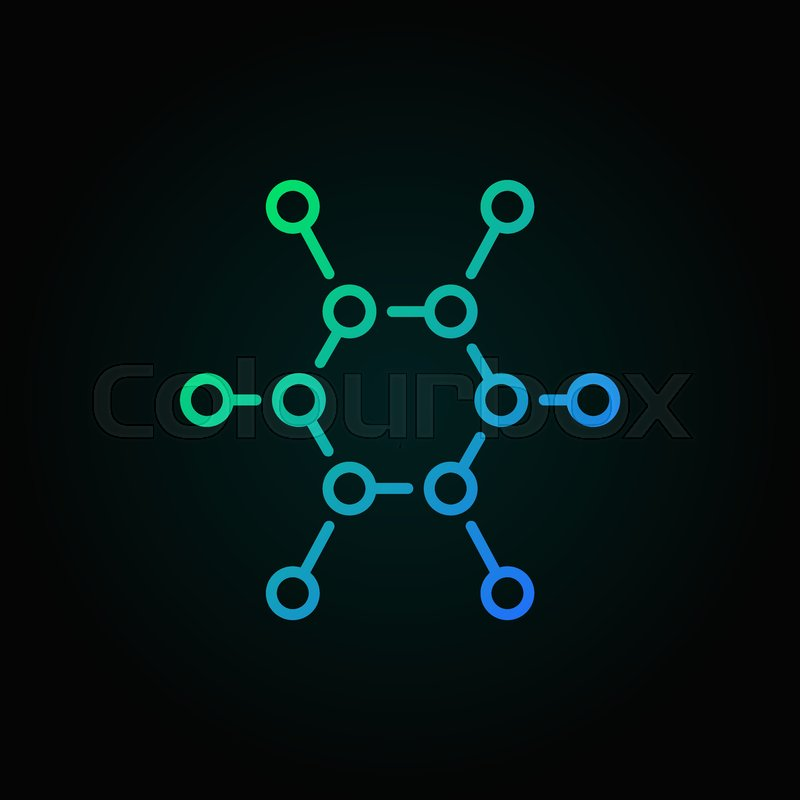 Chemical structure vector colorful     | Stock vector