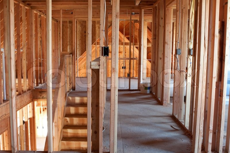 Unfinished Home Framing Interior | Stock image | Colourbox