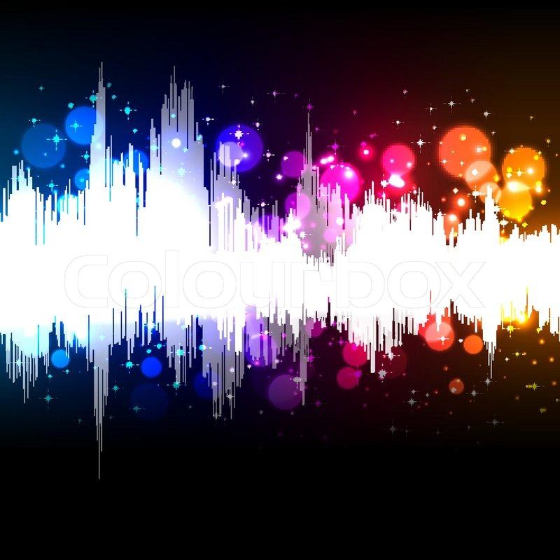 waveform music background stock vector colourbox speaker vector graphic sneaker vector