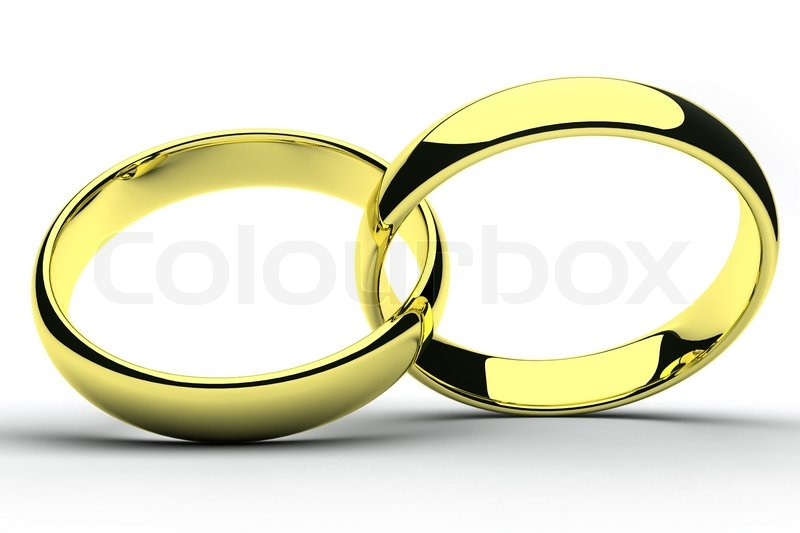 Isolierte Gold Hochzeit Ringe Stockfoto Colourbox
