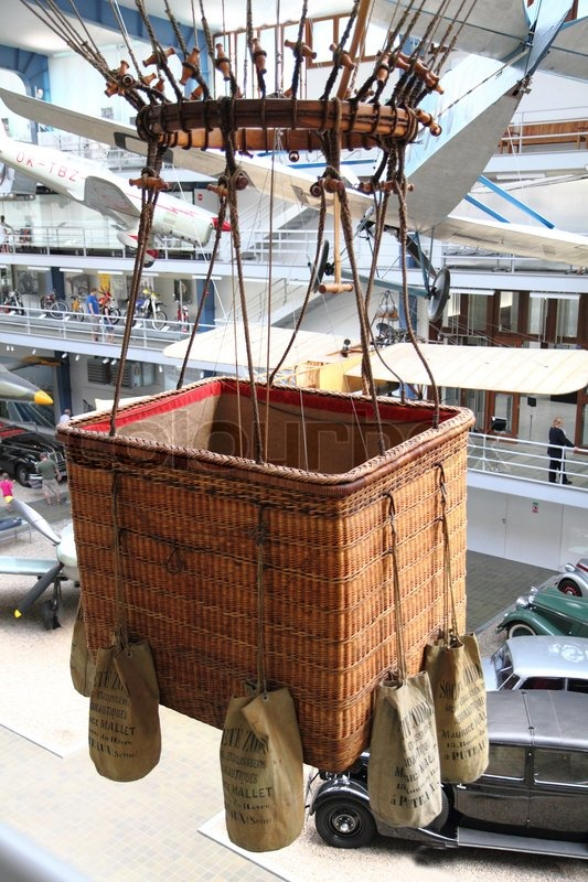 Basket From The Air Balloon Stock Photo Colourbox