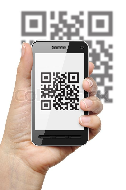 QR code on mobile phone | Stock Photo