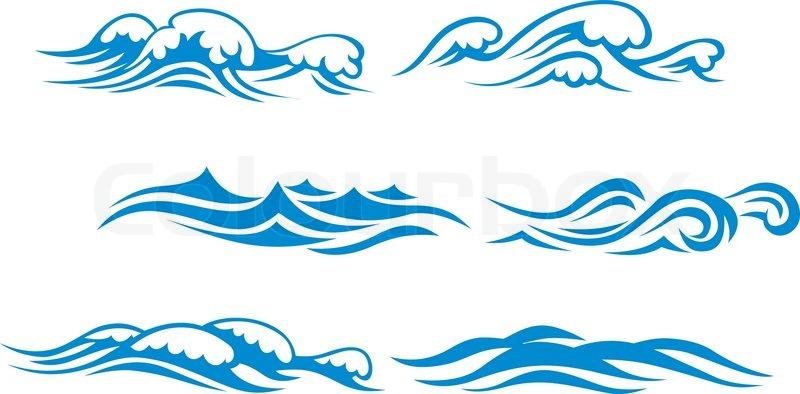 Wave Symbols Stock Vector Colourbox