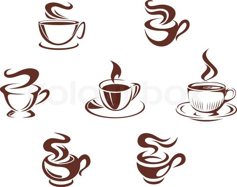 coffee cups and mugs stock vector colourbox