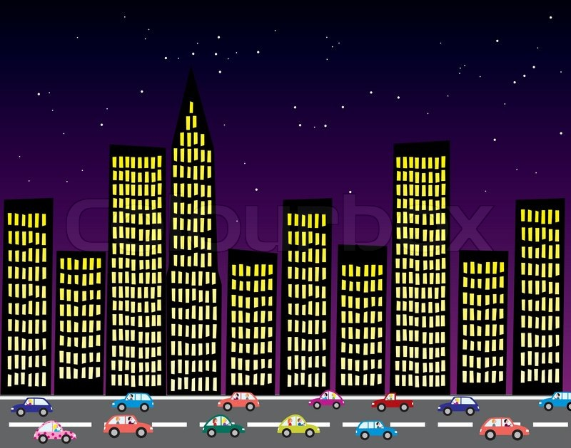 Vector city at night | Stock Vector