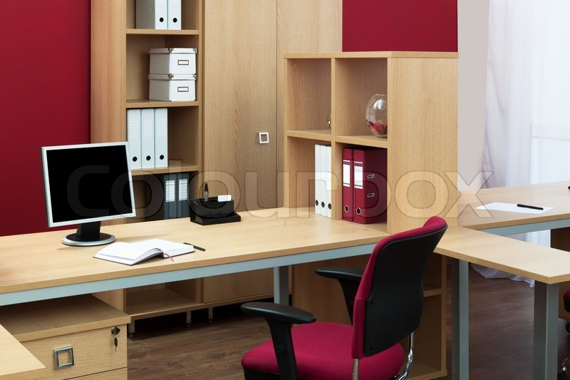 Stock image of 'Monitor on a desk'