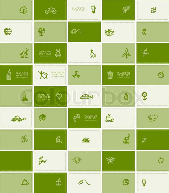 Business cards with ecology icons for your design stock vector business cards with ecology icons for your design stock vector colourbox colourmoves