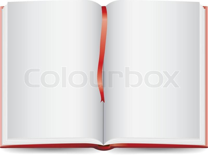 Open Book Stock Vector Colourbox