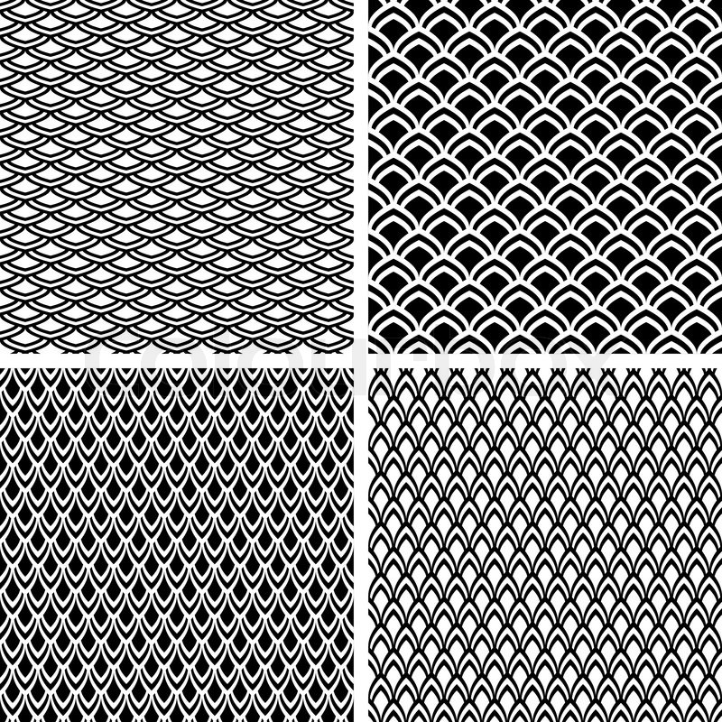 fish scale seamless textures set stock vector colourbox