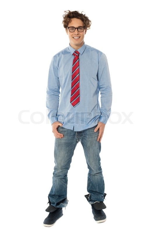 Handsome Man Standing Casually Stock Photo Colourbox