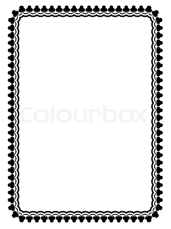 Simple black ornamental decorative frame | Stock Vector ...