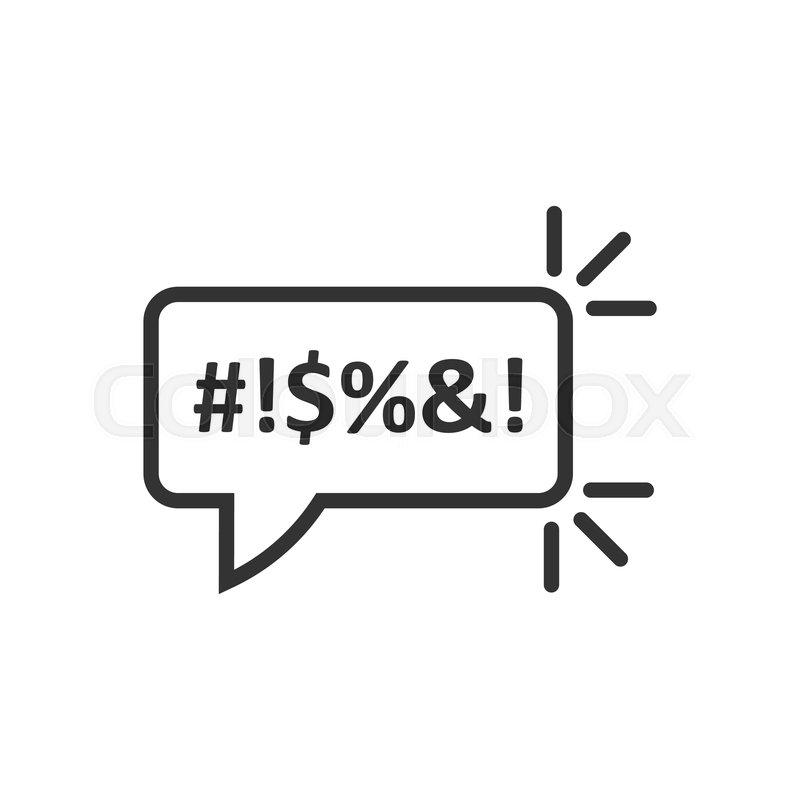 Shout speech bubble icon in flat     | Stock vector | Colourbox