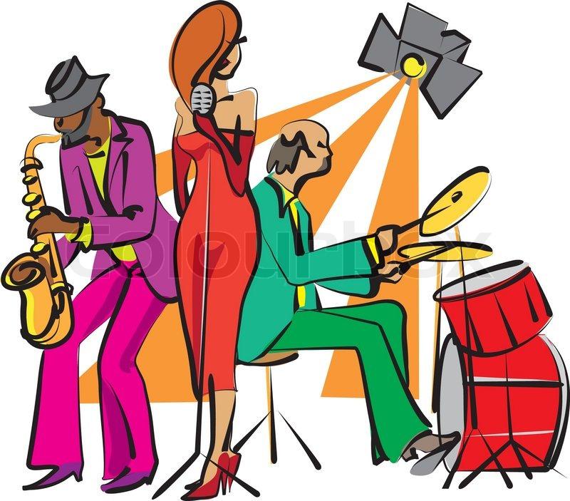 Cartoon Jazz Band Jazz Band Vector