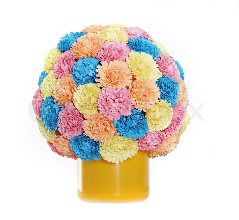 Paper Flower Ball Quilling Stock Image Colourbox