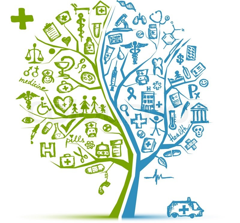 Medical tree concept for your design stock vector for Medical design firms
