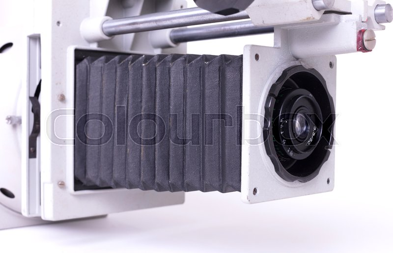 Photo developing equipment - Old lens,     | Stock image
