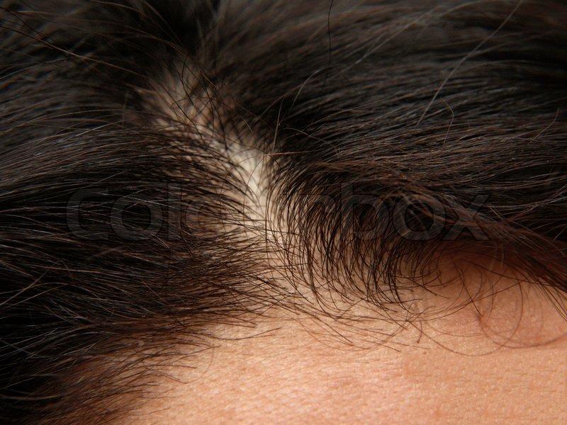 Human hair, close up, stock photo