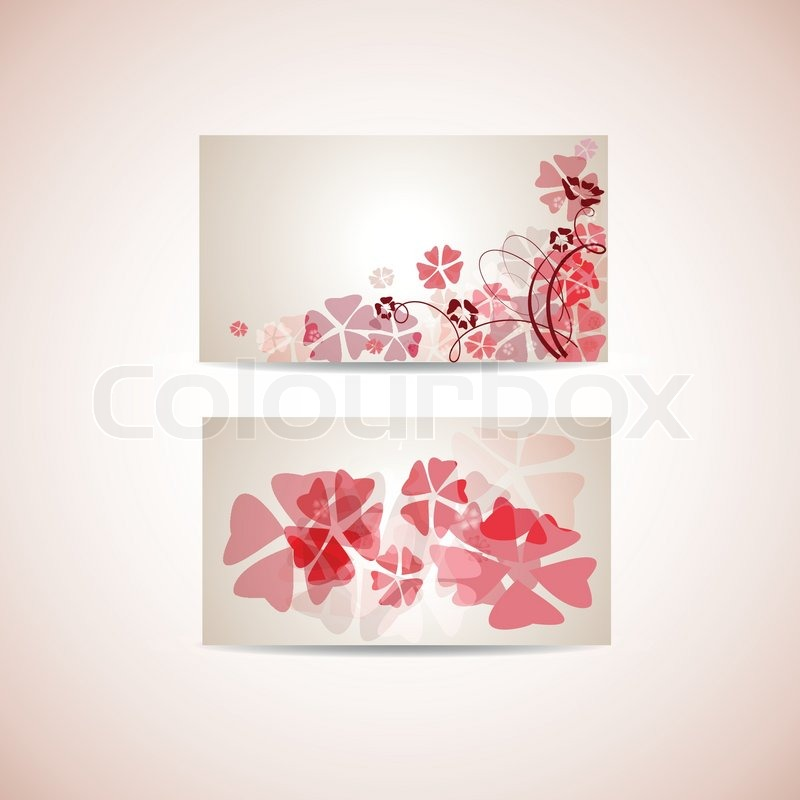 Floral business card template | Stock Vector | Colourbox