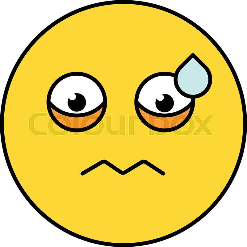 Worried, nervous emoji vector     | Stock vector | Colourbox