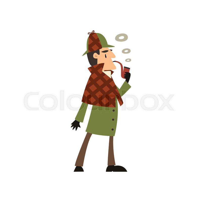 4bf8268ca Sherlock Holmes detective character ... | Stock vector | Colourbox