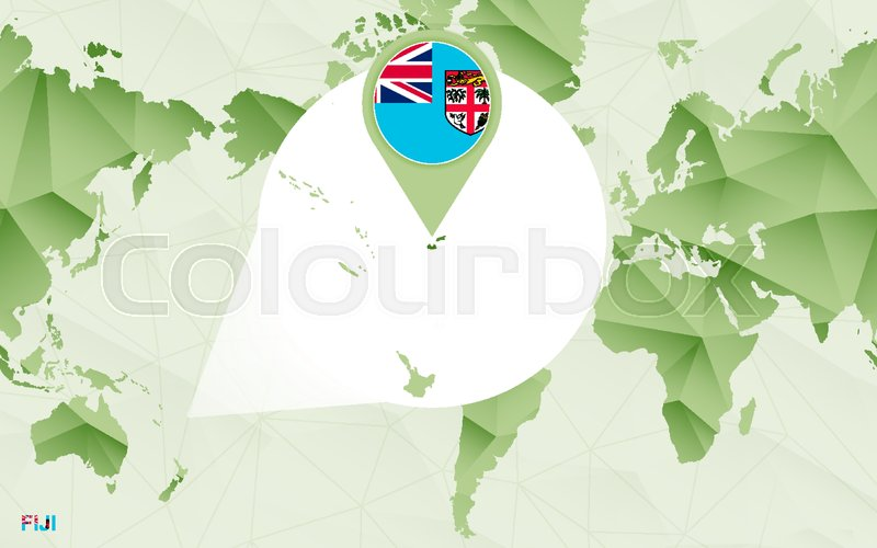 America centric world map with ... | Stock vector | Colourbox