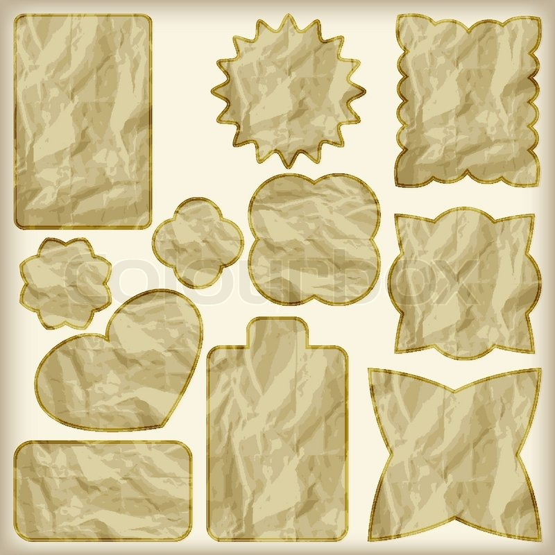 Crumpled paper texture | Stock Vector | Colourbox