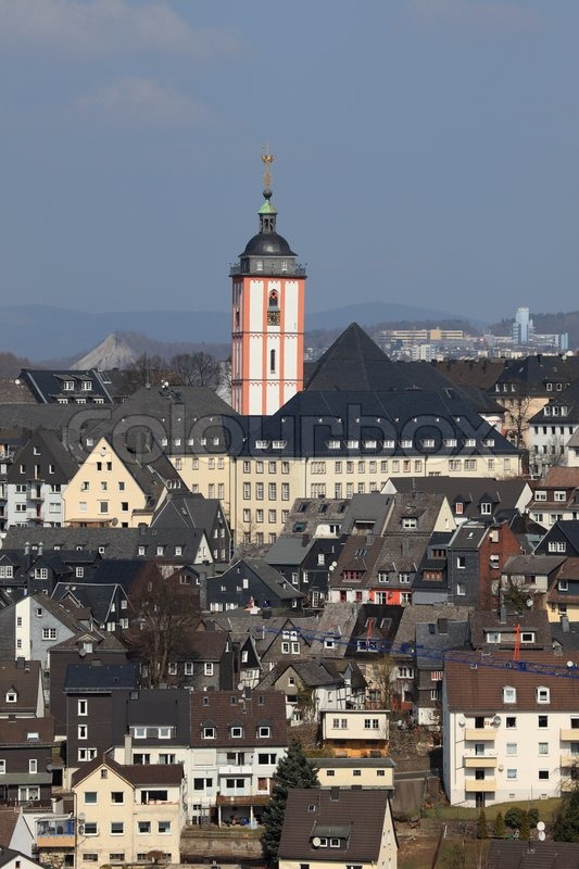 Siegen Germany  city pictures gallery : Town Siegen, Germany   Stock Photo   Colourbox